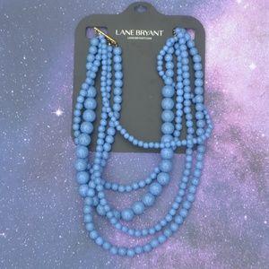 NWT Lane Bryant Marble Multi-Strand Bead Necklace